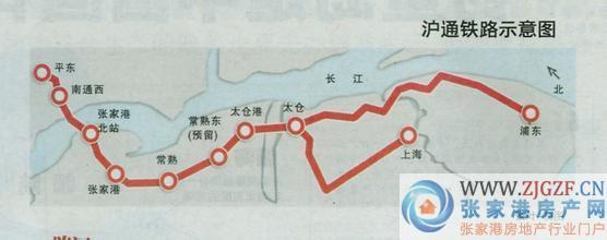 条过境轨道交通线,铁路张家港段的线路工程在2014年8月打下了第一根桩